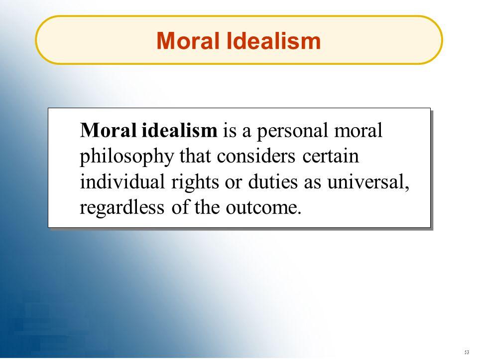 Moral Idealism