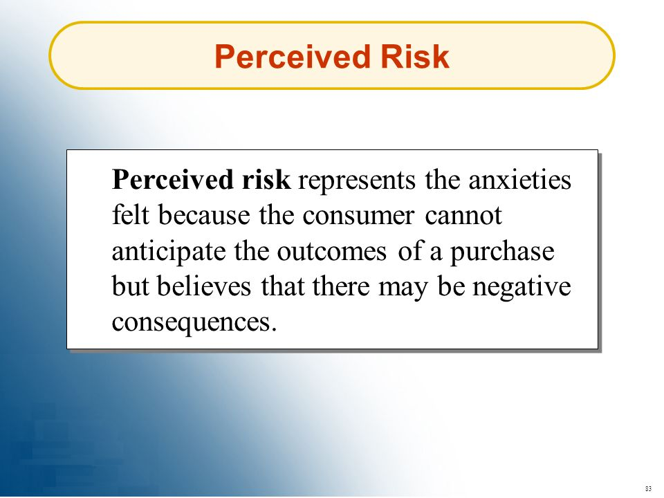 Perceived Risk