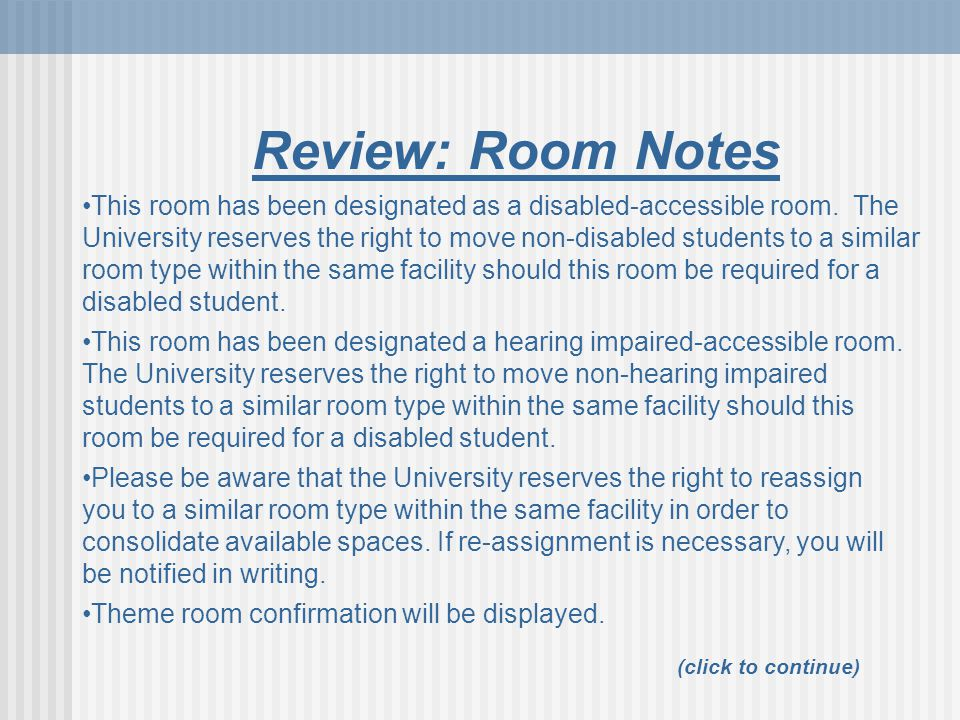 Review: Room Notes