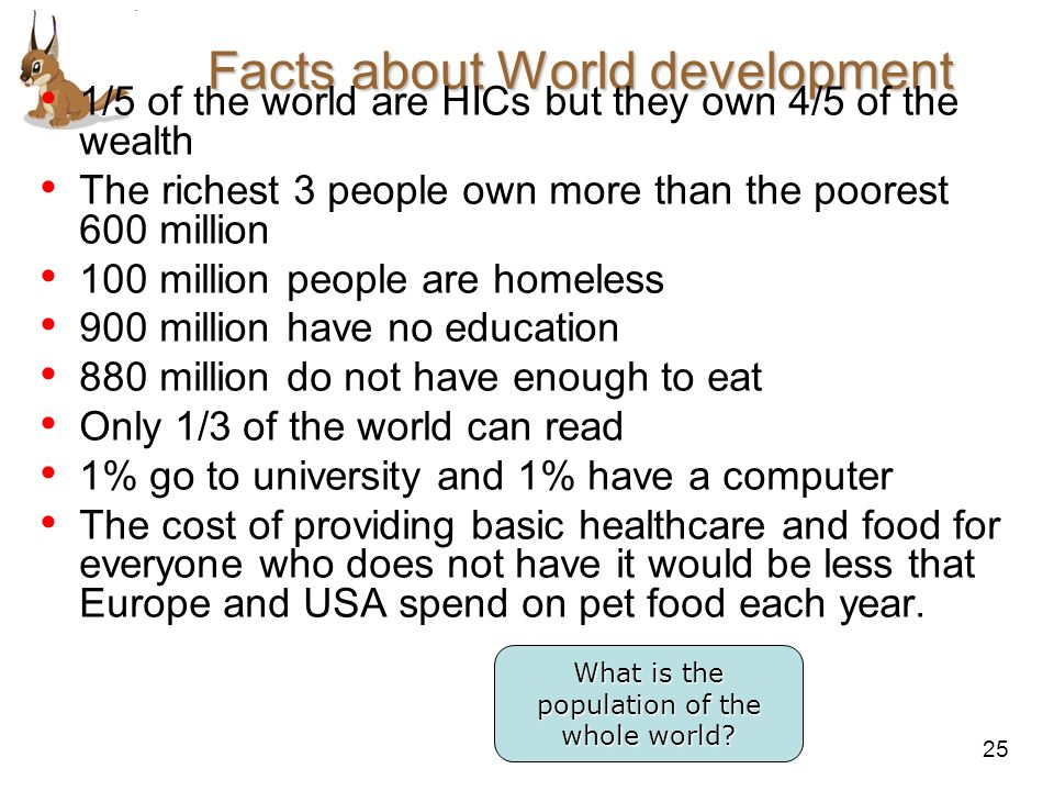 Facts about World development