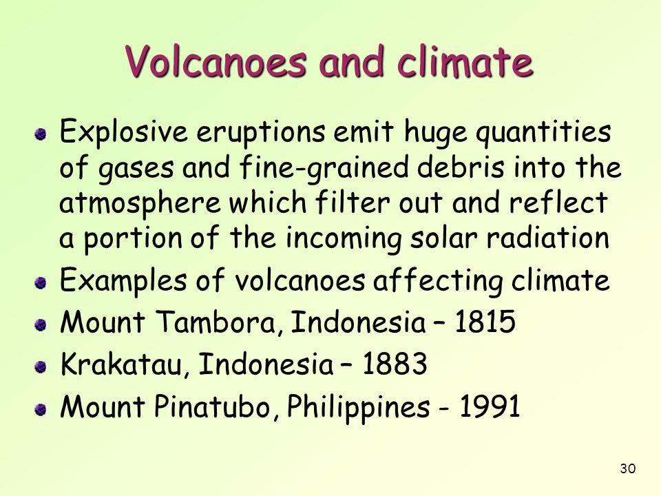 Volcanoes and climate
