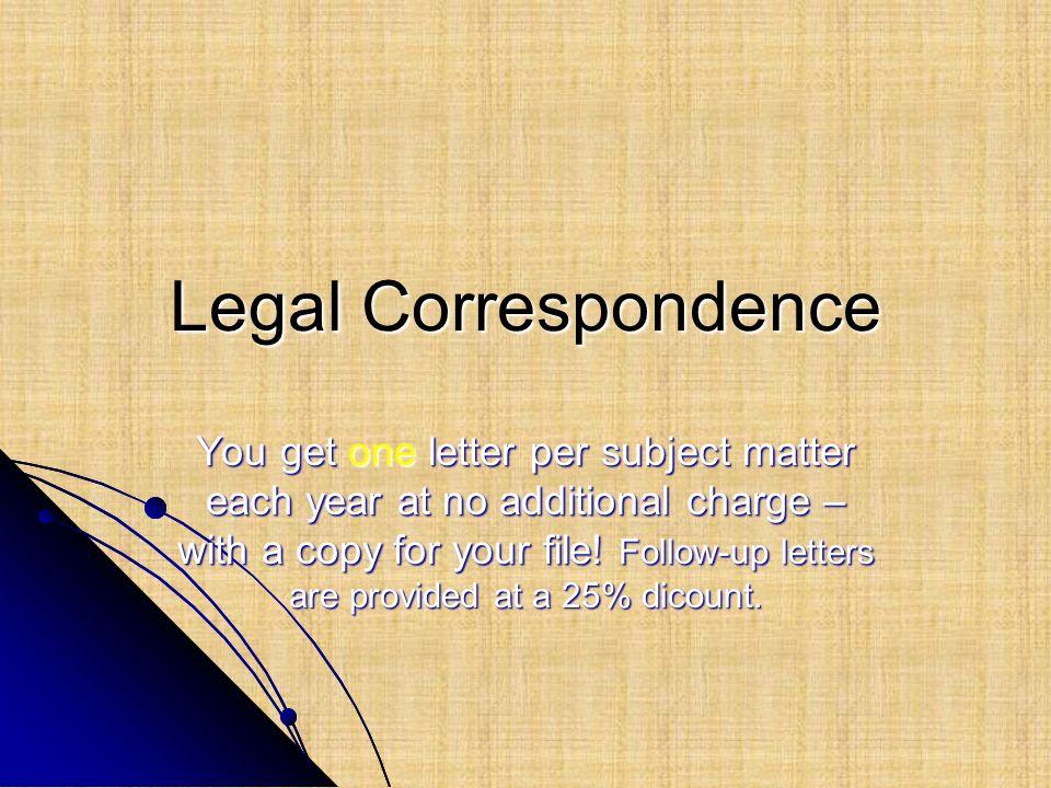 Legal Correspondence