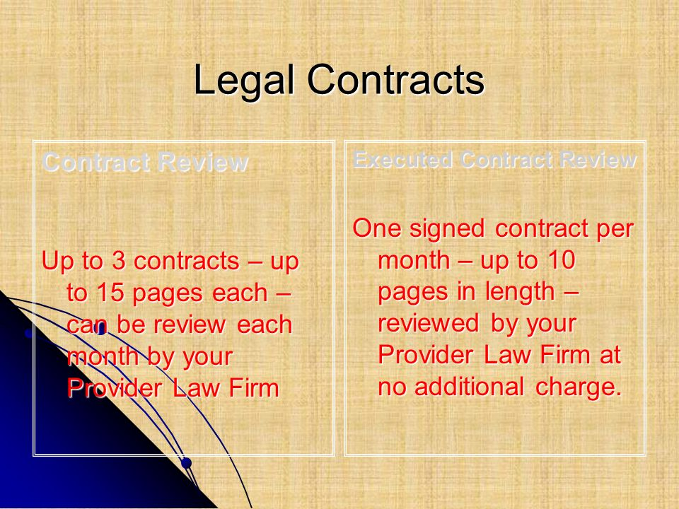 Legal Contracts Contract Review