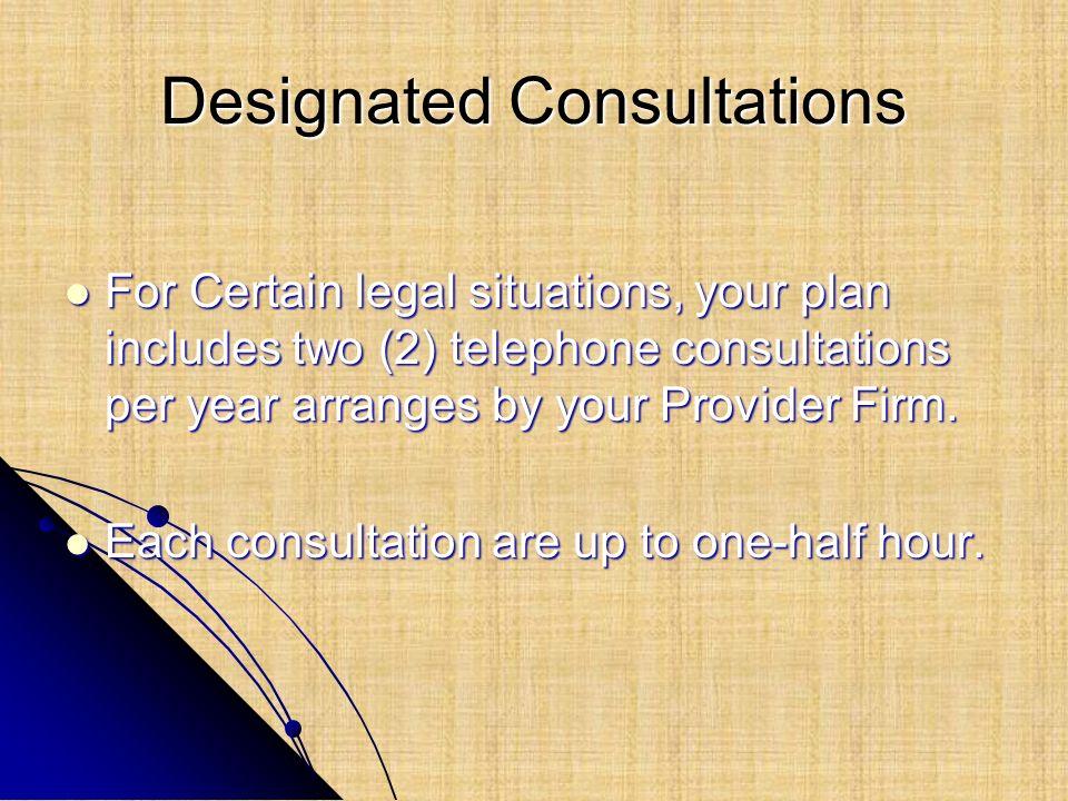 Designated Consultations