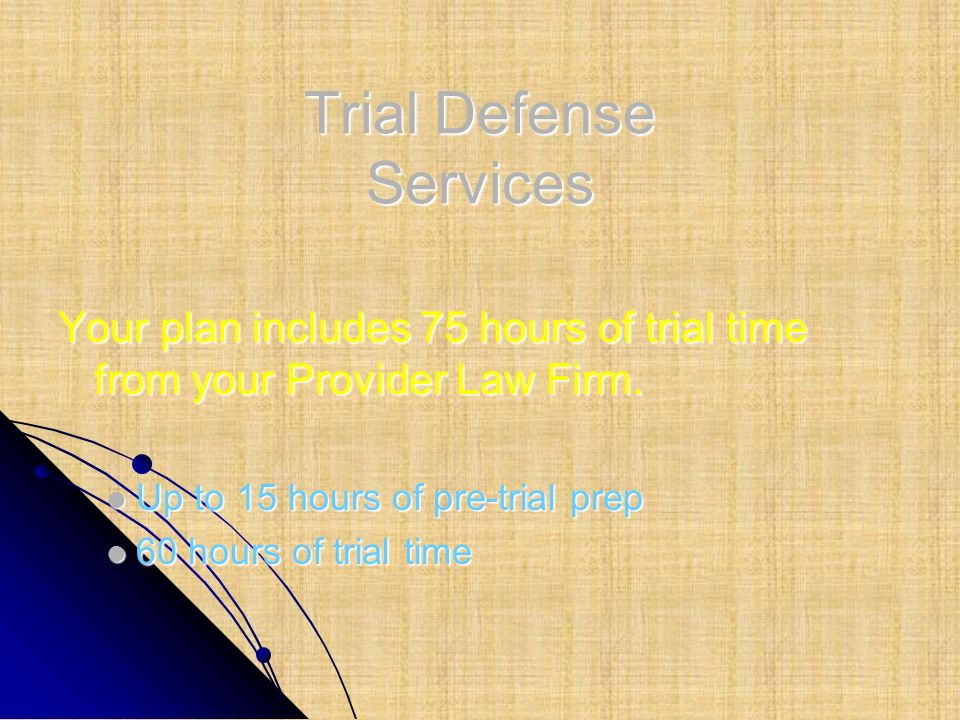 Trial Defense Services
