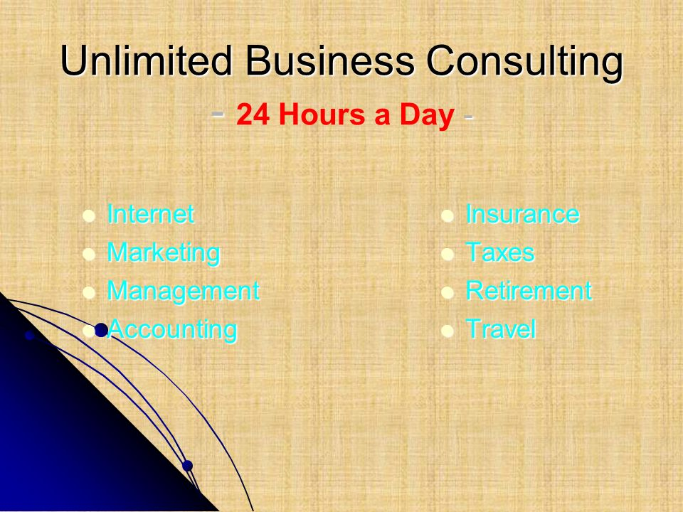 Unlimited Business Consulting - 24 Hours a Day -