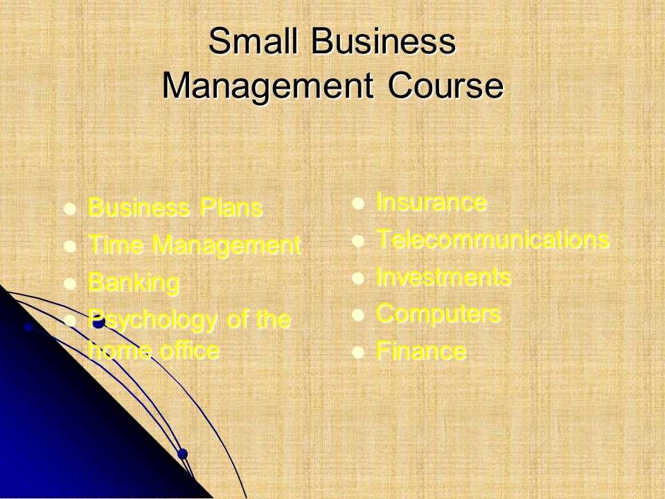 Small Business Management Course