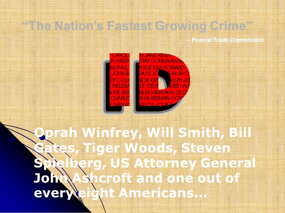 The Nation's Fastest Growing Crime