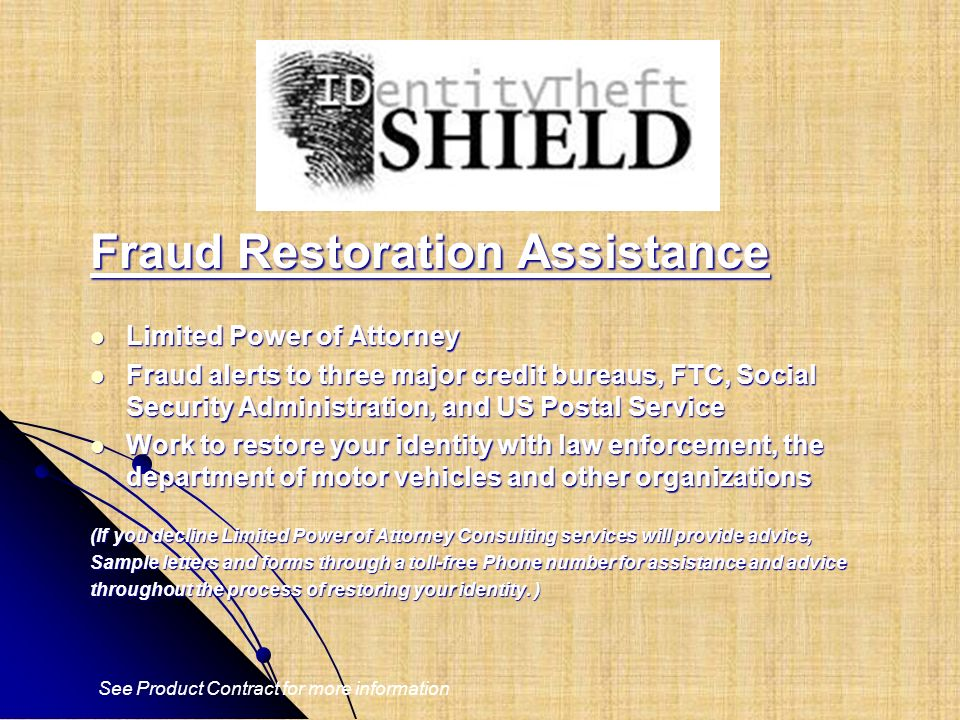 Fraud Restoration Assistance