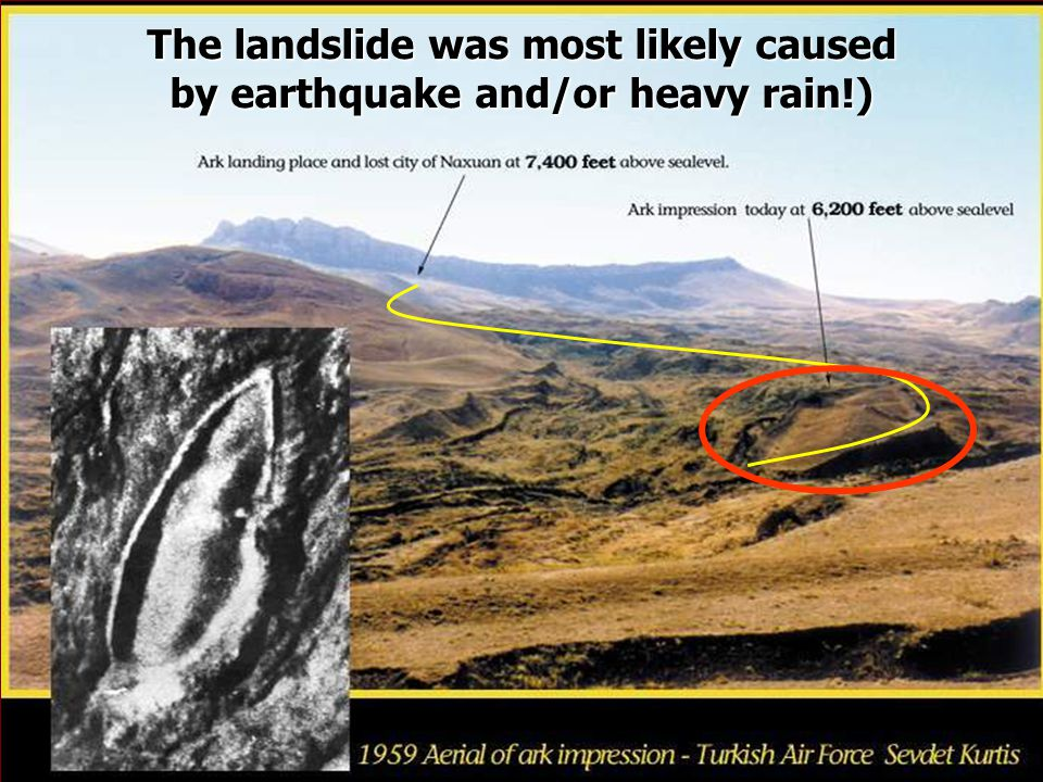 The landslide was most likely caused by earthquake and/or heavy rain!)