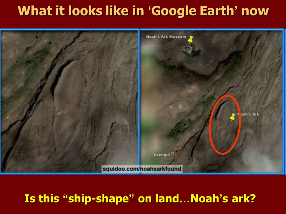 What it looks like in 'Google Earth' now