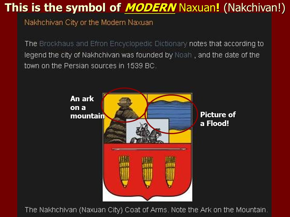 This is the symbol of MODERN Naxuan! (Nakchivan!)