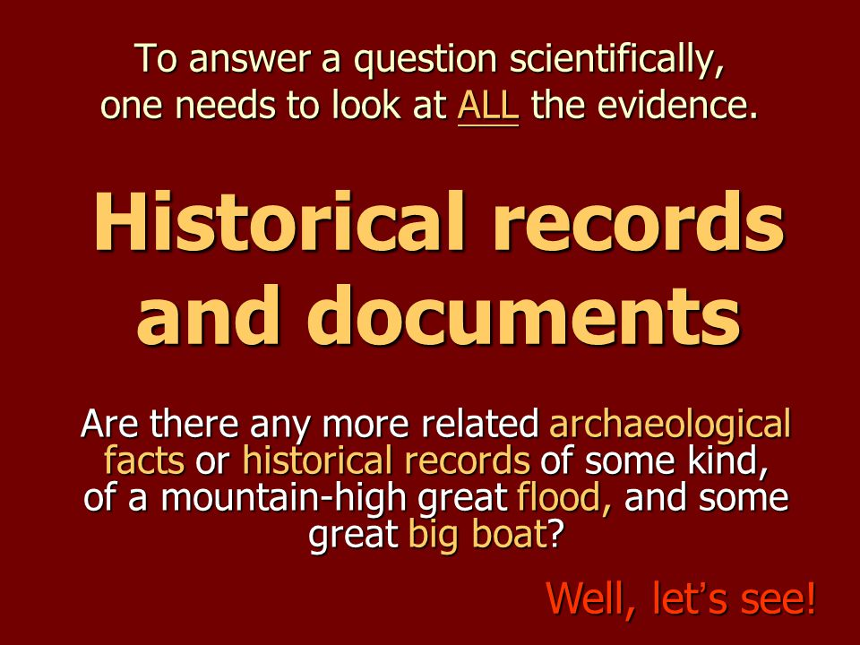 Historical records and documents