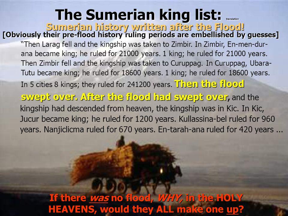 The Sumerian king list: translation