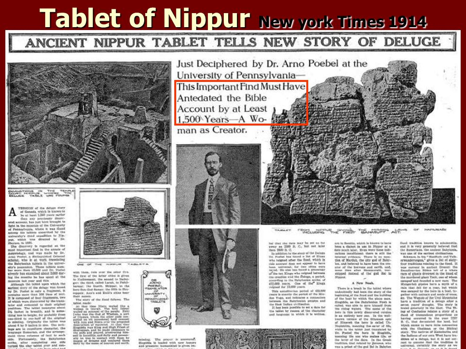 Tablet of Nippur New york Times 1914