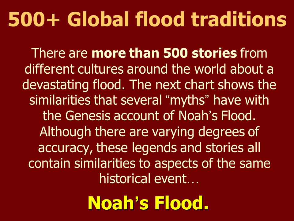500+ Global flood traditions