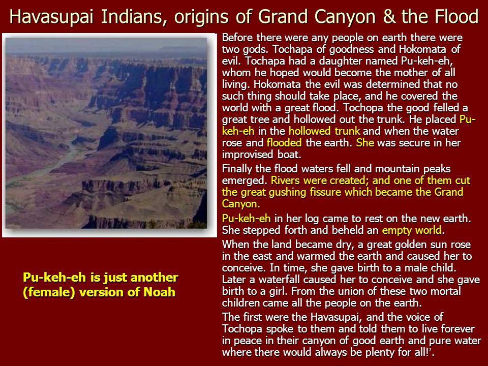 Havasupai Indians, origins of Grand Canyon & the Flood