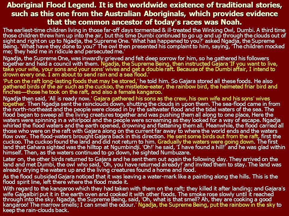 Aboriginal Flood Legend