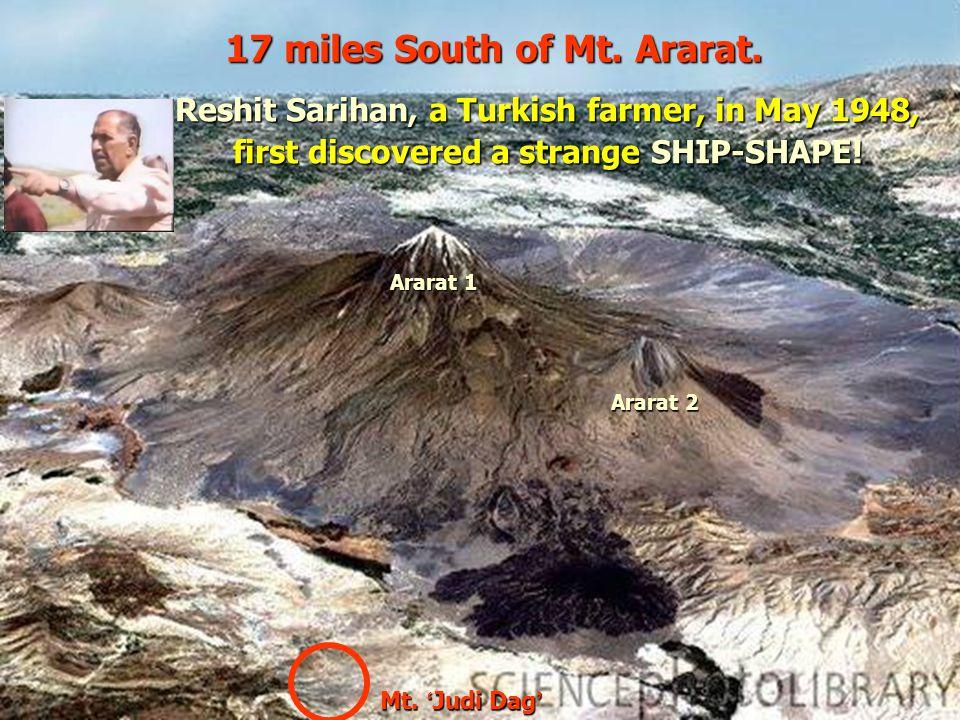 17 miles South of Mt. Ararat.