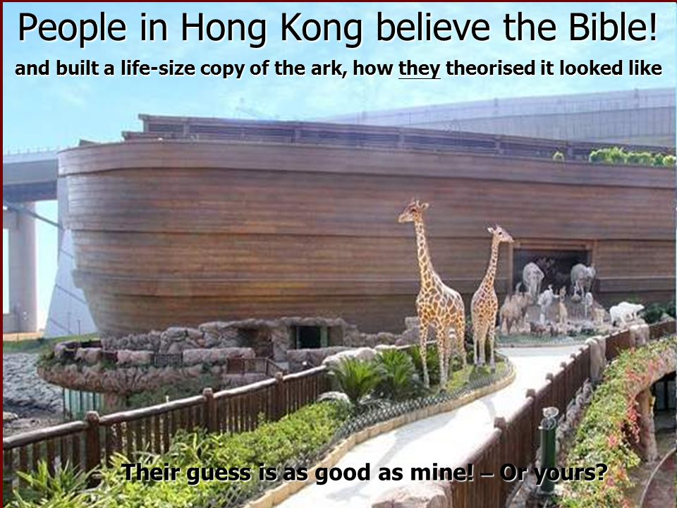 People in Hong Kong believe the Bible!