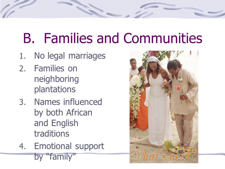 B. Families and Communities