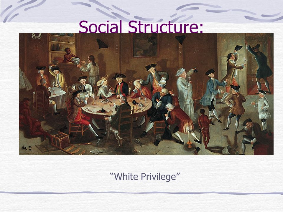 Social Structure: White Privilege