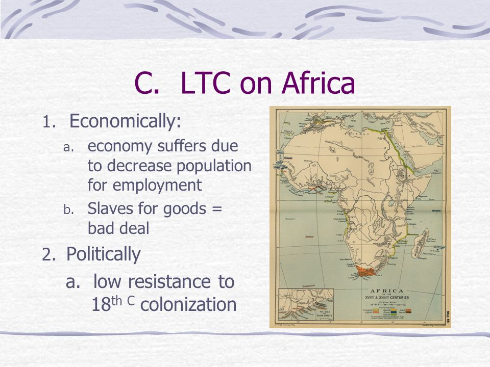 C. LTC on Africa Economically: Politically