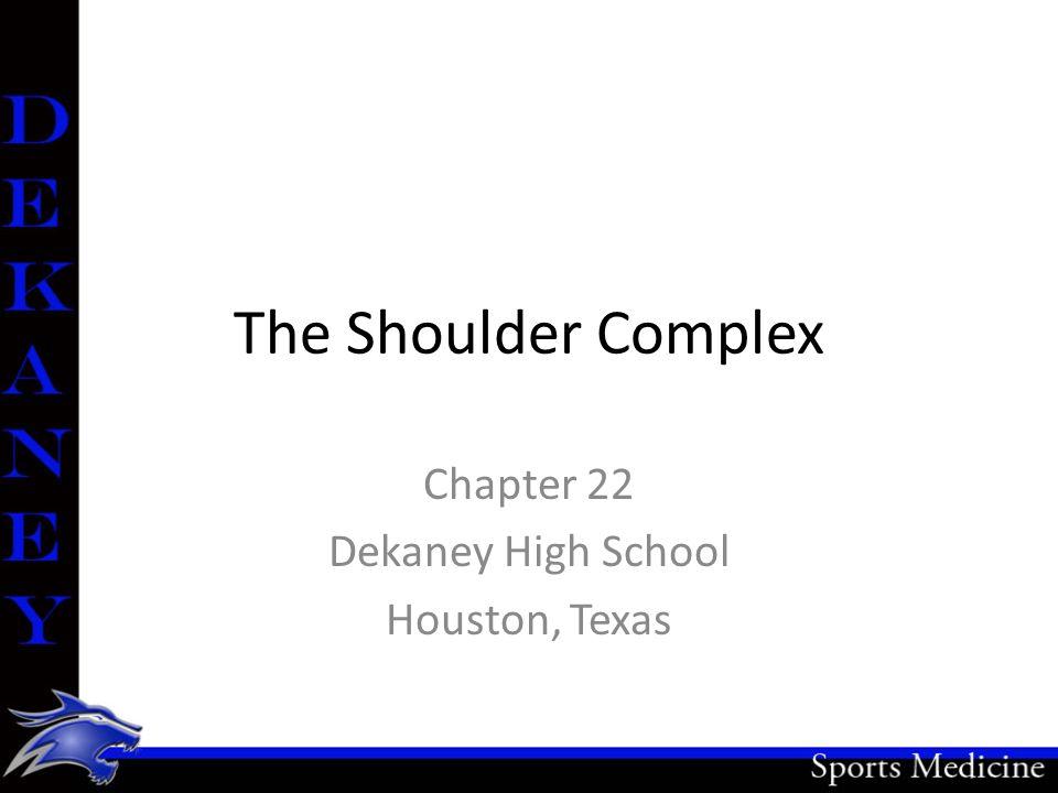 Chapter 22 Dekaney High School Houston, Texas