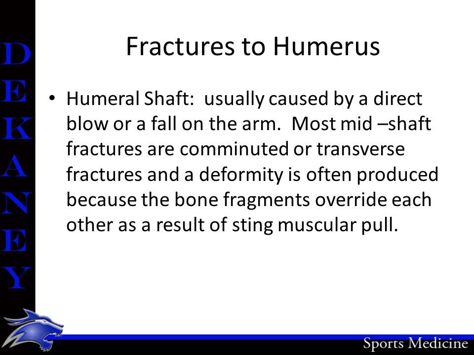 Fractures to Humerus
