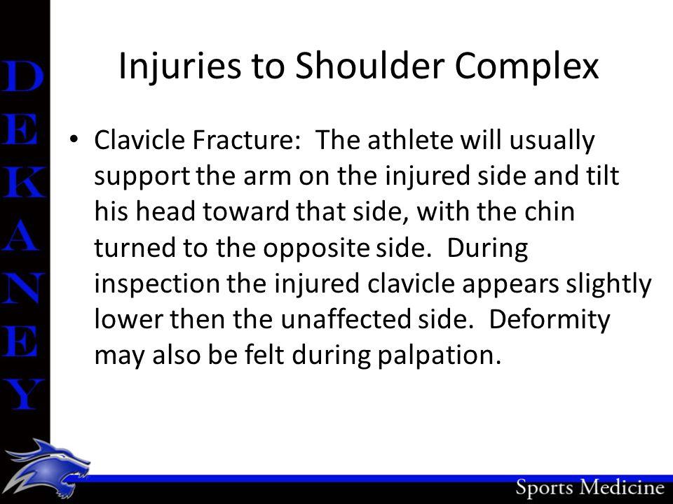 Injuries to Shoulder Complex