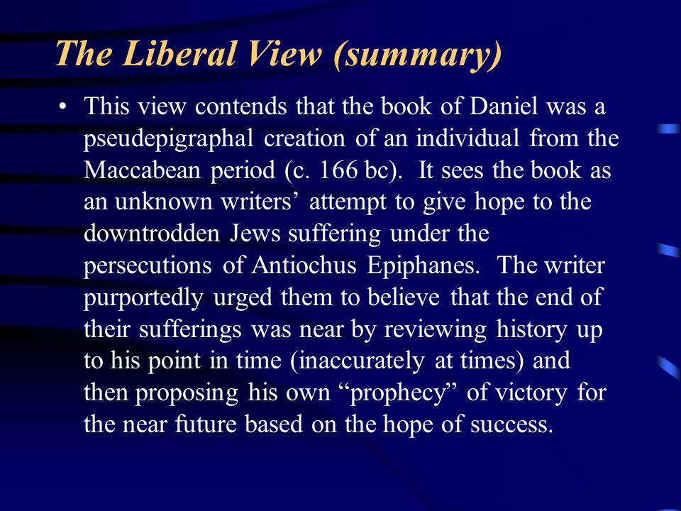 The Liberal View (summary)