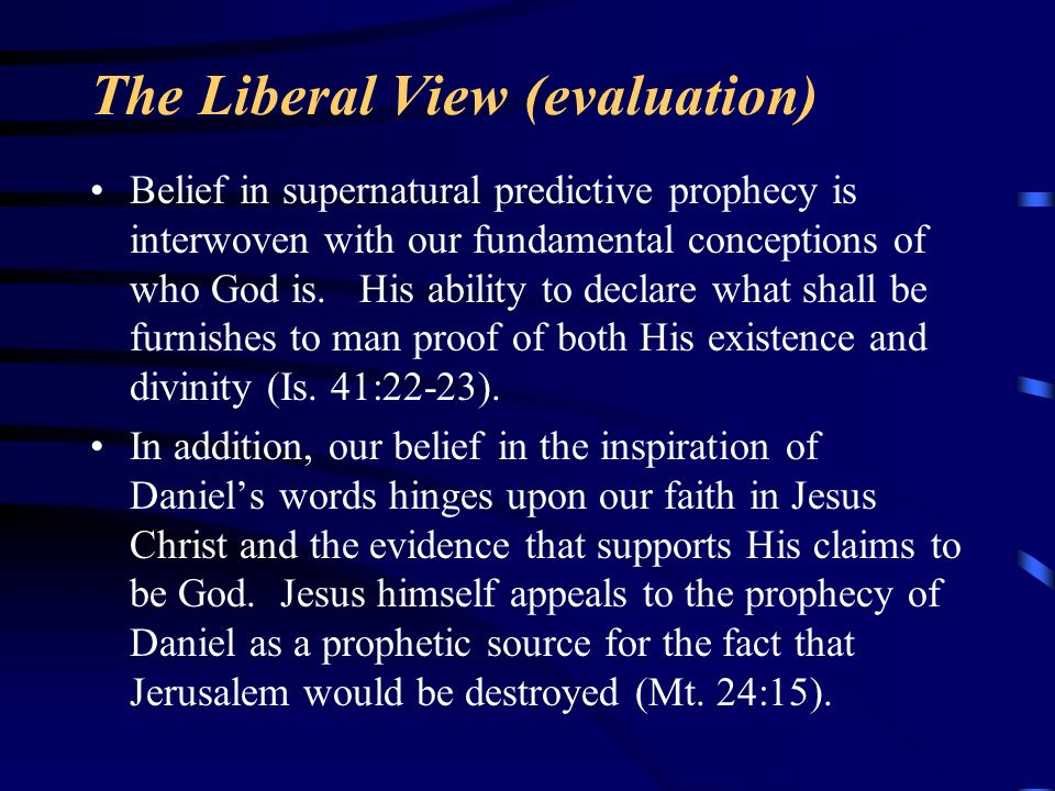 The Liberal View (evaluation)