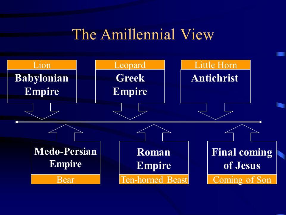 The Amillennial View Babylonian Empire Greek Empire Antichrist Roman