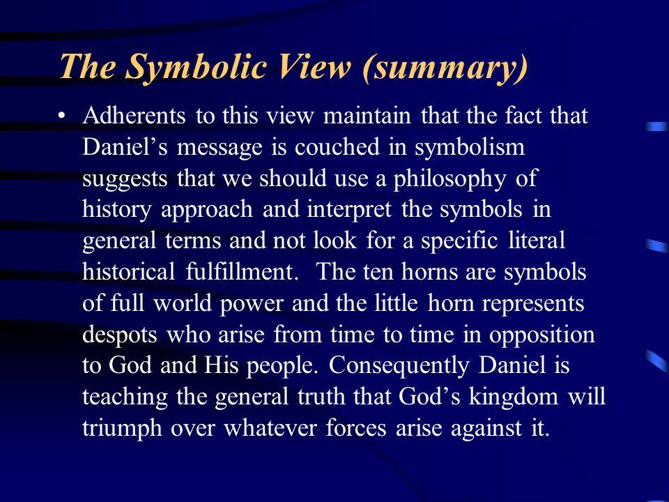 The Symbolic View (summary)