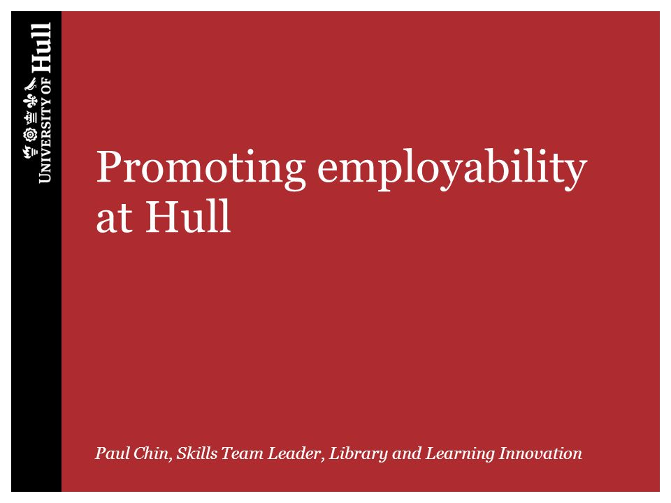 Promoting employability at Hull