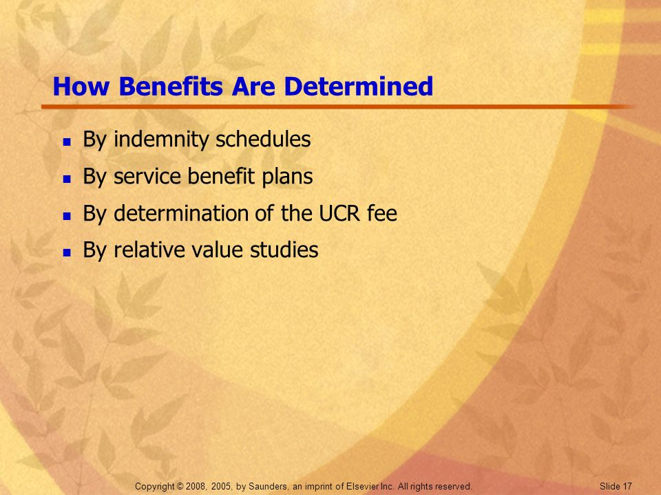 How Benefits Are Determined
