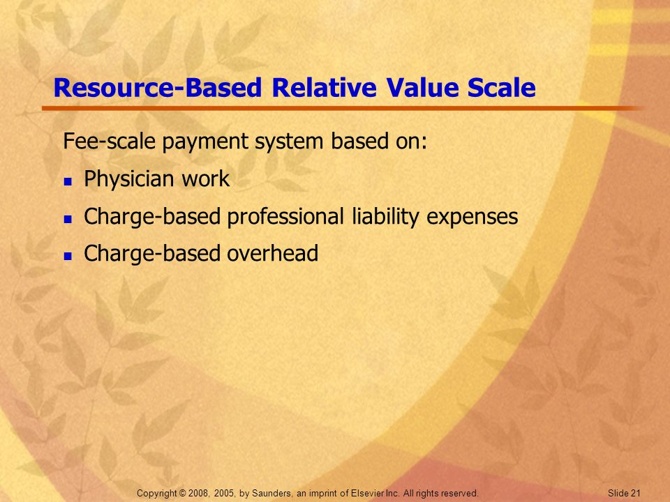 Resource-Based Relative Value Scale