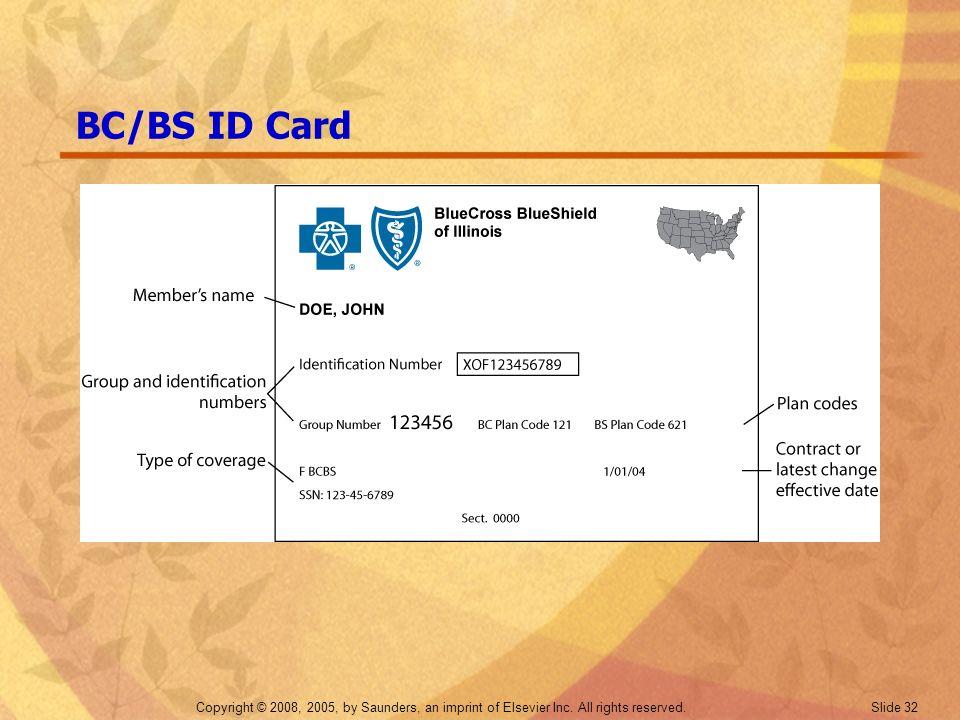 BC/BS ID Card