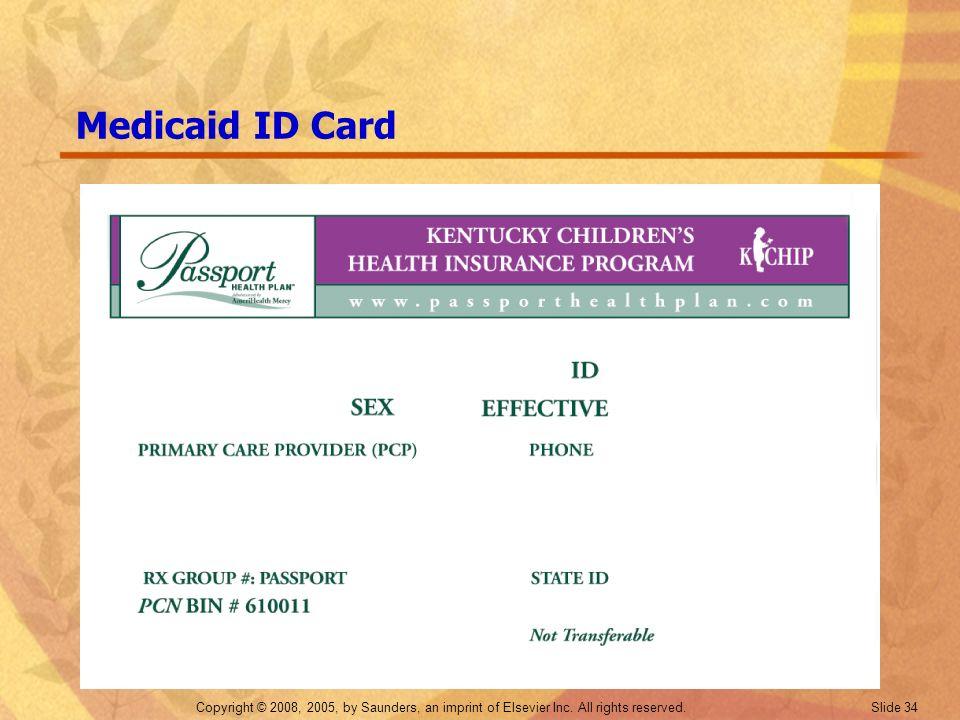 Medicaid ID Card