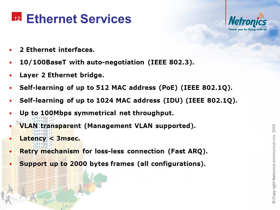 Ethernet Services 2 Ethernet interfaces.
