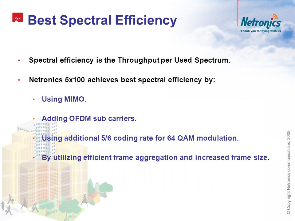 Best Spectral Efficiency