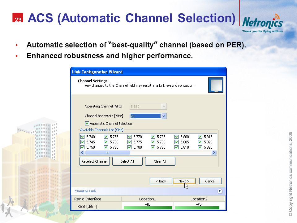 ACS (Automatic Channel Selection)