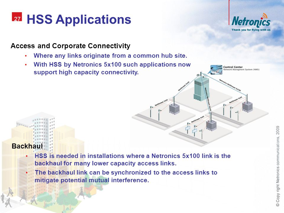 HSS Applications Access and Corporate Connectivity Backhaul