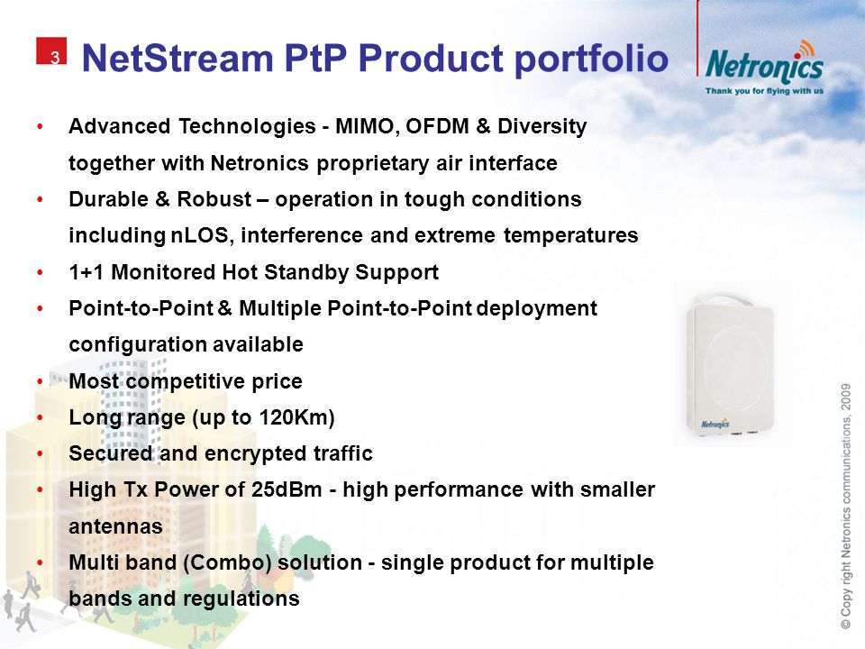 NetStream PtP Product portfolio