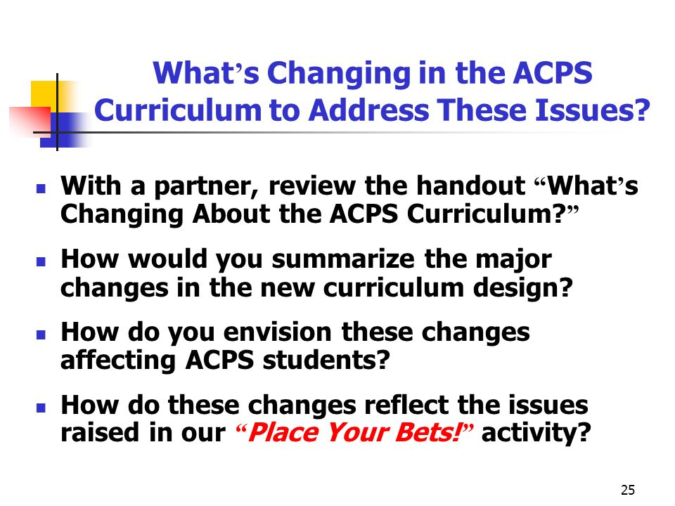 What's Changing in the ACPS Curriculum to Address These Issues