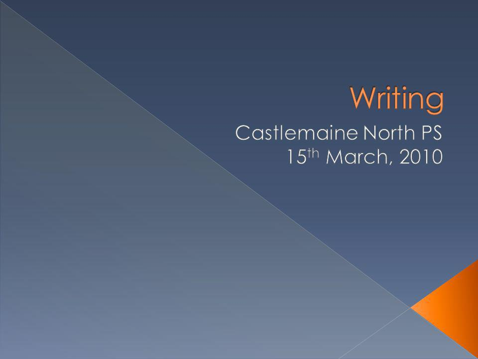Castlemaine North PS 15th March, 2010