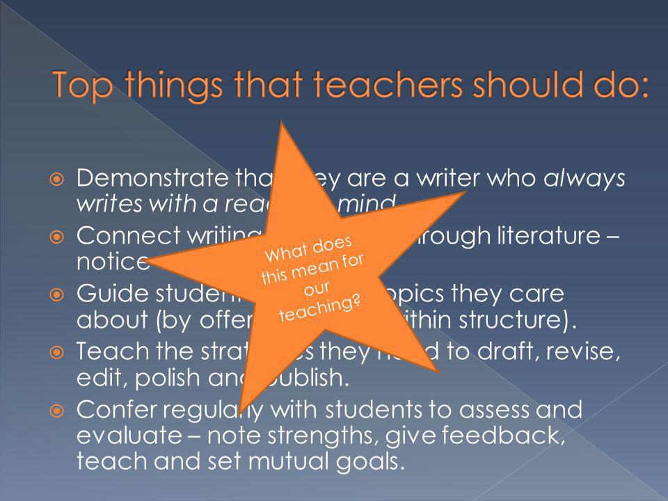 Top things that teachers should do: