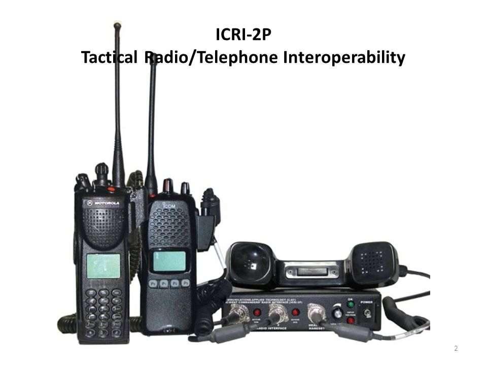 ICRI-2P Tactical Radio/Telephone Interoperability