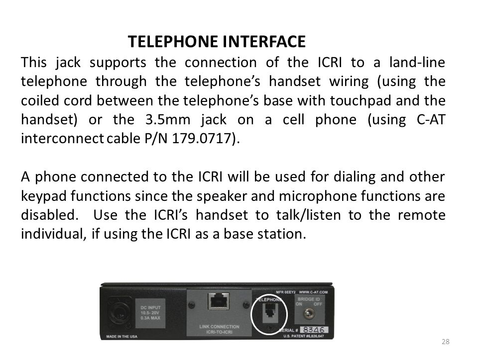 TELEPHONE INTERFACE