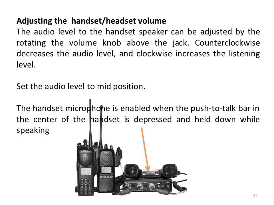 Adjusting the handset/headset volume